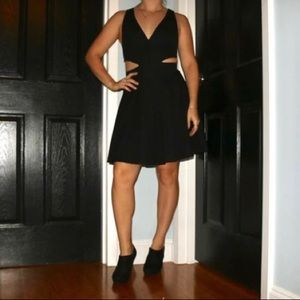 Dresses & Skirts - Simple Black Dress with Side Cutouts